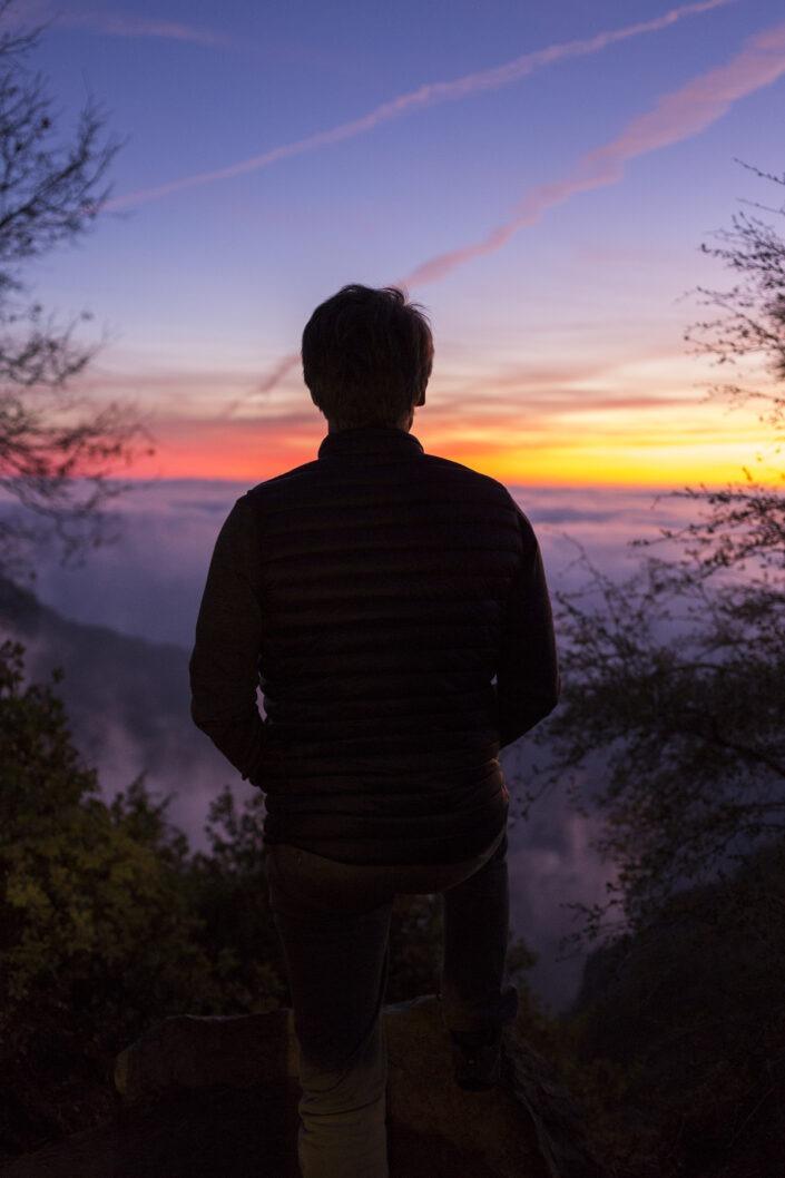 Mer de nuage, Sequoia National Park, California, usa