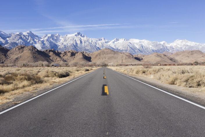 Quelque part entre la Sierra Nevada et Death Valley National Park, California, usa