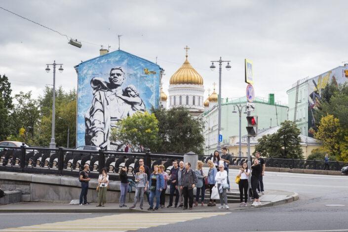 Passage piéton, Moscou, Russie