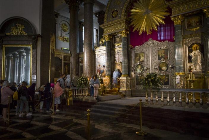 cathédrale, Notre-Dame-de-Kazan, Saint-Petersbourg, Russie