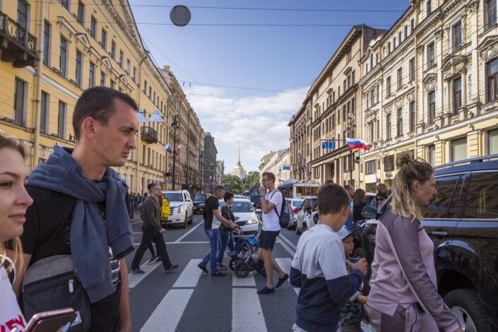 La perspective Nevski, Saint-Petersbourg, Russie