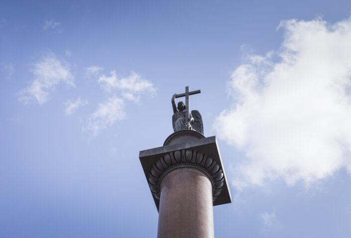 Colonne, Alexandre, croix, victoire, Saint-Pétersbourg