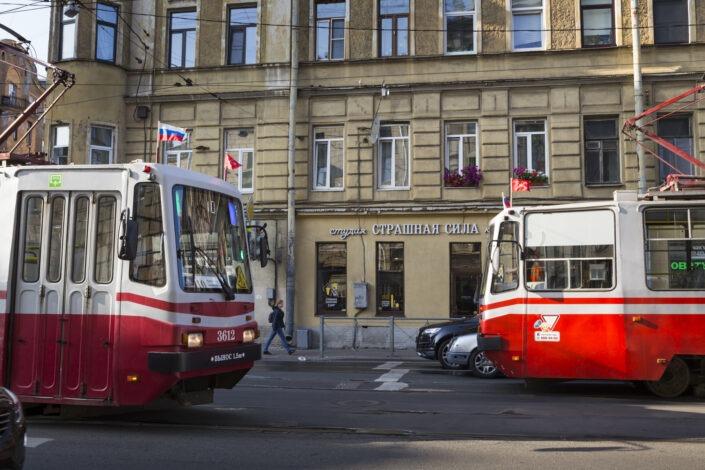 Tramway, Saint-Petersbourg, Russie