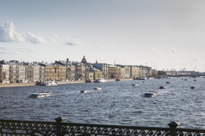 Bateaux, croisière, Neva, Saint-Petersbourg, russie