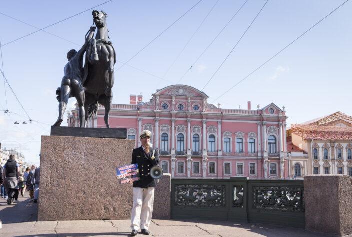 Vendeur, croisière, Saint-Petersbourg